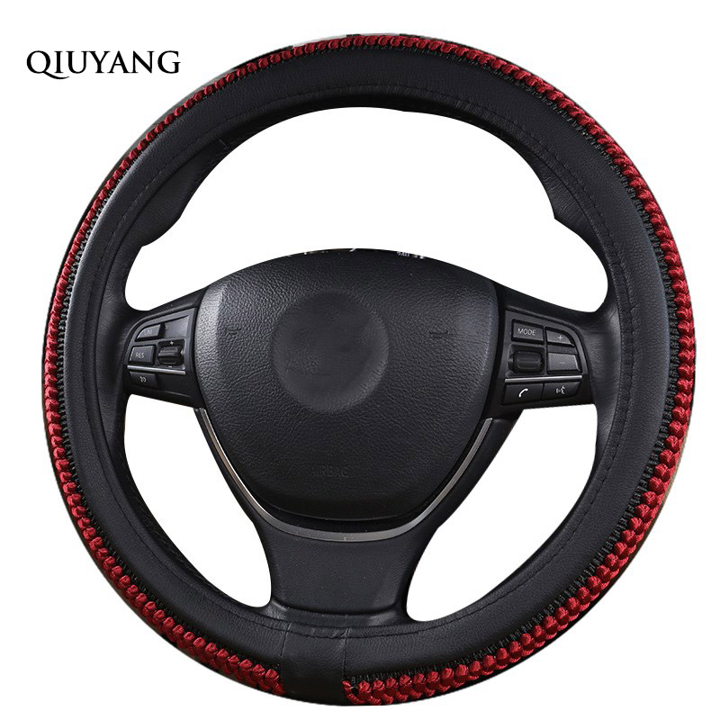 Stylish 38cm / 15inch Truck For 308 Plain Dodge Steering-Wheel Cover For RAV4 Sports Cheap Breathable Steering Wheel Cover