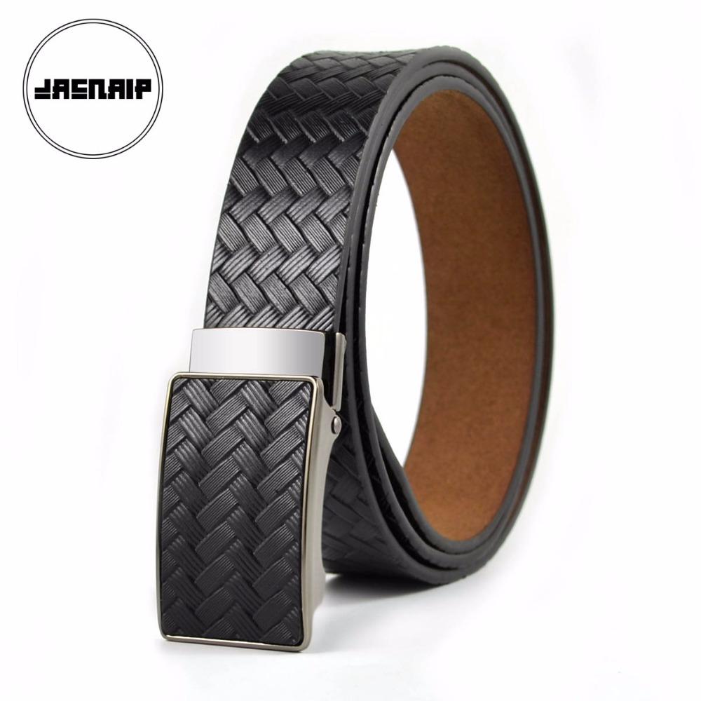 New Designer Men's   Belts   Luxury Fashion Genuine Leather   Belt   for Men High Quality Imitate Woven Style Automatic   Belt   IC-004-6