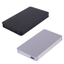 Aluminum Alloy Shell 2.5inch Ultra Slim USB 3.0 SATA Hd Box HDD Hard Disk Drive External HDD Enclosure High Quality
