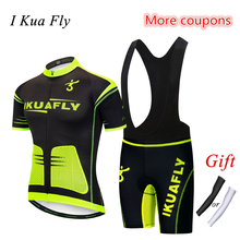 ФОТО i kua fly men cycling clothing breathable cycling jersey set mtb bicycle cycling set wear maillot bike jersey maillot ciclismo 5