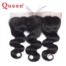 Queen Hair Product Brazilian Body Wave Lace Frontal with baby hair closure Remy Hair can buy 3 or 4 Bundles Human Hair free part