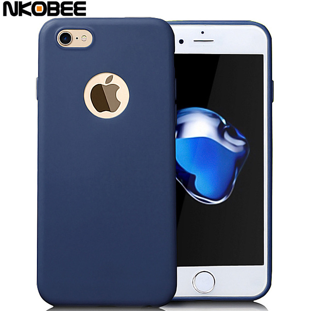 NKOBEE Luxury Coque For iPhone 7 7 Plus For Apple iPhone 6S 6 Plus case Candy Color Silicone TPU Back Cover For iPhone 7 Phone