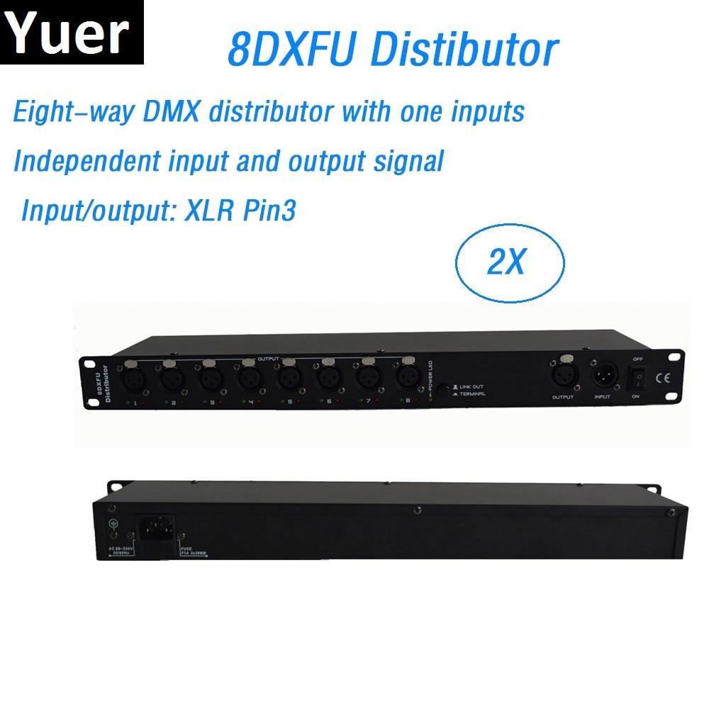 8 manier DMX Distributeur DMX512 Signaal Versterker Splitter Voor Moving Head Licht DJ/Bar/Party/Tonen/ stage Light Led Podium Machine