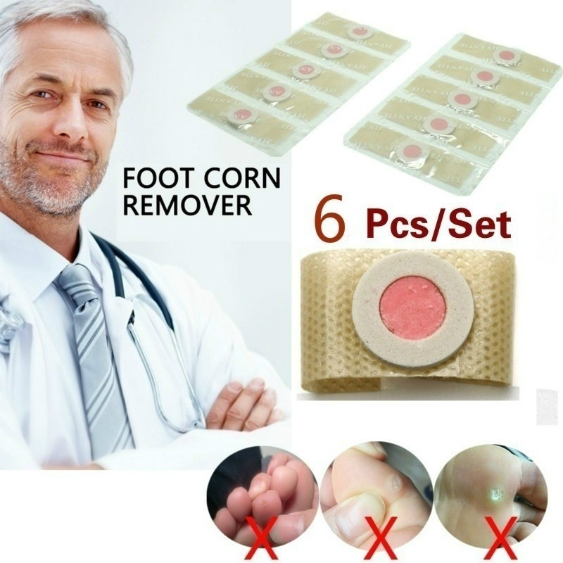 6pcs Medical Sticker Feet Protector Remove Hard Calluses Plantar Warts Thorn Relieve Feet Pain Friction Feet Health CareT0197CME