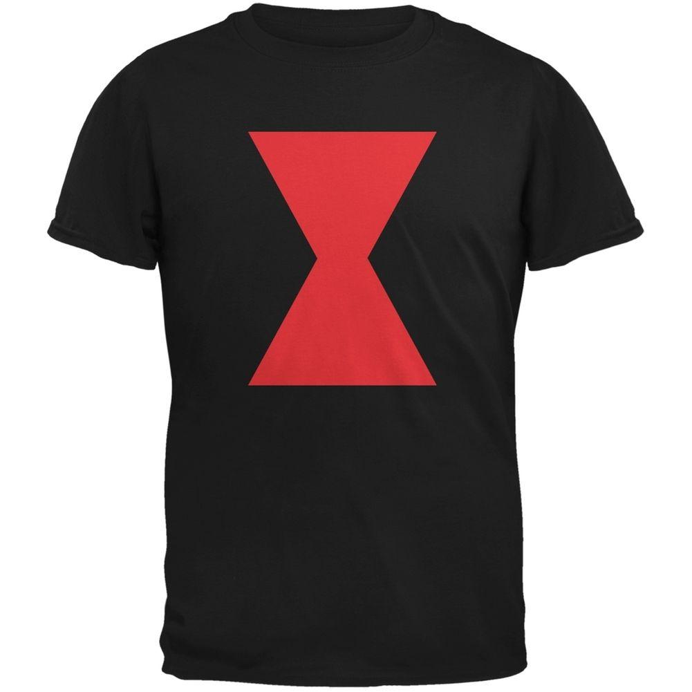 Halloween Black Widow Black Adult T-Shirt