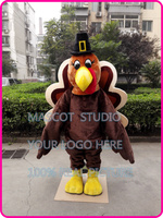 Thanksgiving Turkey Mascot costume plush turkey tucustom fancy costume anime cosplay kits mascotte fancy dress401473