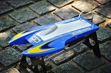 Fiber Glass Catamaran Brushless Speed Boat Racing Mini RC Boat PNP M440 Blue W/ ESC&Motor