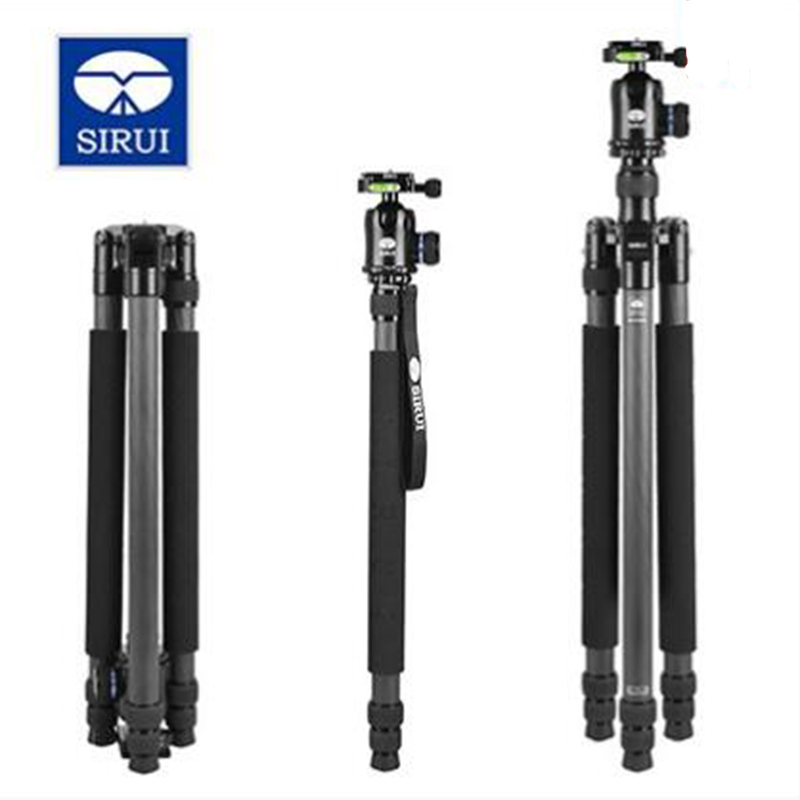 SIRUI N-3203X Carbon Fiber Tripod Monopod Portable Mobile Tripod With Stable Ball Head Professional Photography Bracket For DSLR sirui g20kx professional aluminum ball head