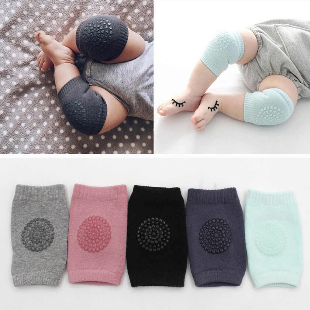 Toddler Kids Kneepad Protector Soft Thicken Terry Non-Slip Dispensing Safety Crawling Baby Leg Warmers Well Knee Pads For baby