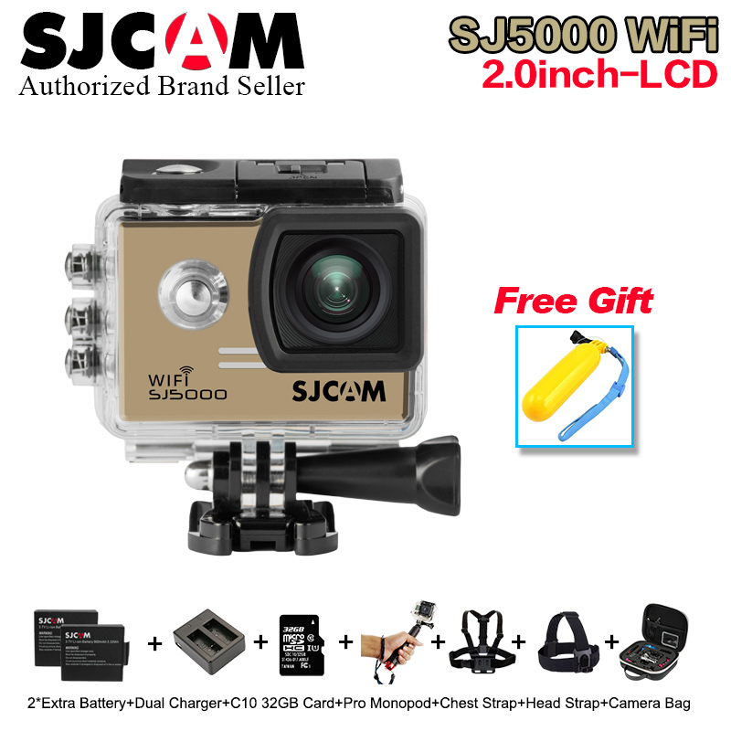 цена на Original SJCAM SJ5000 WiFi Action Camera 1080P Full HD Sports DV 2.0 inch Diving 30M Waterproof mini Camcorder SJ 5000 Sport Cam