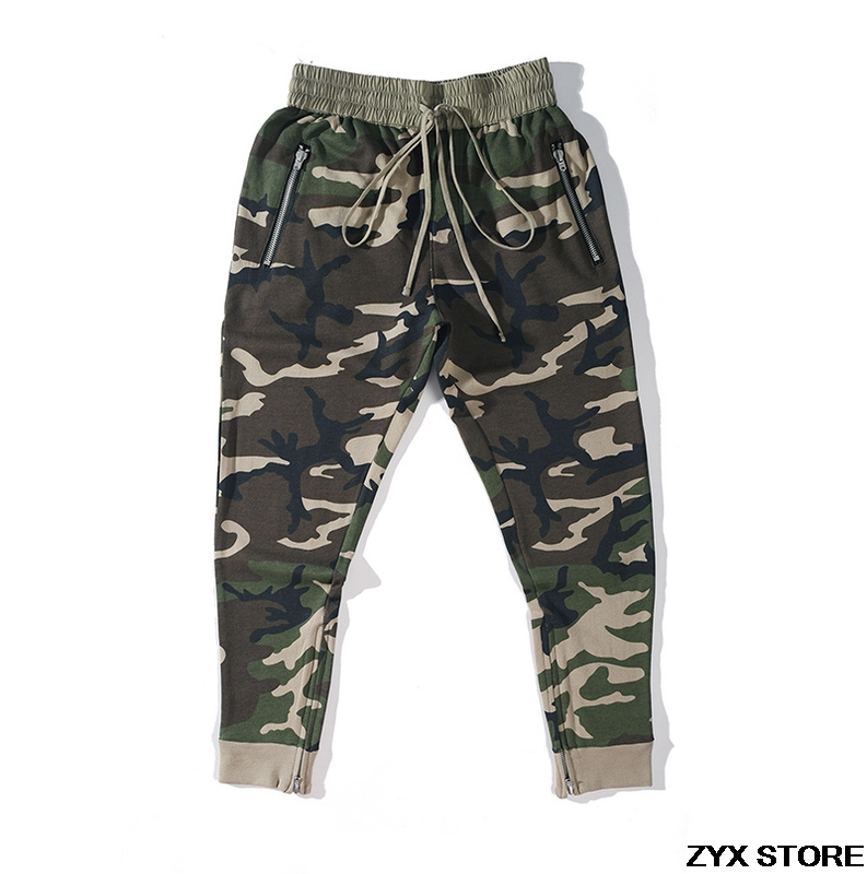 Best Version Fear Of God Pants 1:1 Trousers FOG Inner Zipper Chinos Kanye West Camo Camouflage Trousers Joggers Men Cargo Pants
