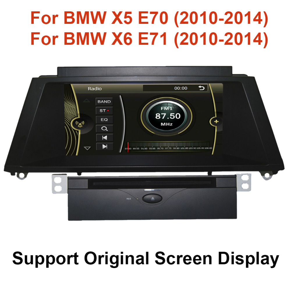 8 Car DVD GPS Player for BMW X5 E70 BMW X6 E71 2010 2014 support original screen display with GPS BT USB SD IPOD