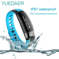 Yuedaer M6 Smart Bracelet Fitness Tracker Bluetooth Pedometer Heart Rate Monitor Waterproof Smart Band Remote Control Camera