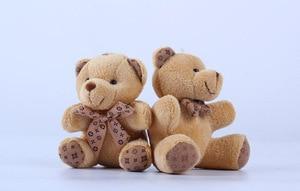 Image 3 - 1 STÜCKE Hot 10 CM Kawaii Kleine Teddybären Plüschtiere Kuscheltiere Fluffy Bear Puppen Weich Kinder Spielzeug