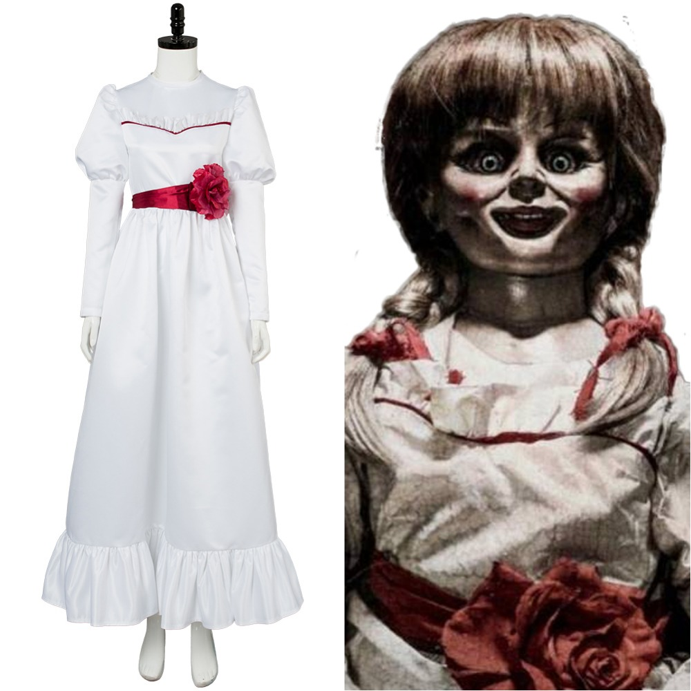Trucco Annabelle Halloween.Us 69 0 Annabelle Annabelle Dress Cosplay Costume For Halloween Party Full Set In Movie Tv Costumes From Novelty Special Use On Aliexpress Com