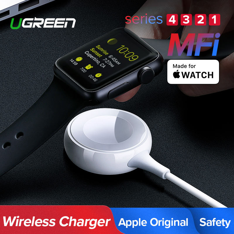 Ugreen Charger for Apple Watch Charger MFi Wireless Magnetic Charging USB Cable 1M Adapter for Apple Watch Series 4 3 2 Cable(China)