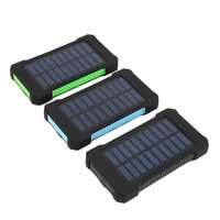 Wopow solar power bank 10000mah portable external battery charger powerbank 10000 mah travel backup battery for iphone tablet pc