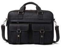 100% коровья кожа портфели для мужчин с ума лошадь кожа большая сумка мужской бизнес сумка мужские сумки для ноутбука