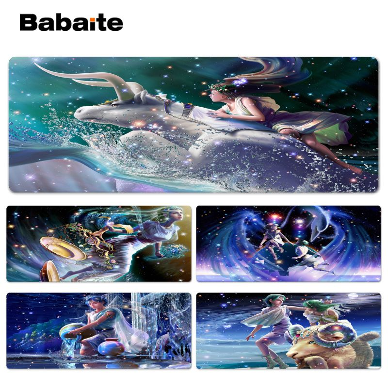 Babaite Personalized Cool Fashion Star Office Mice Gamer Soft Lockedge Mouse Pad Size for 300*900*2mm and 400*900*2mm Mouse Pad
