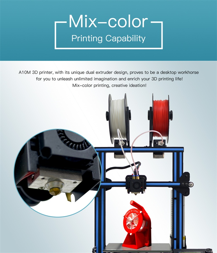 Geeetech A10M 3D Printer Dual Colour Kit