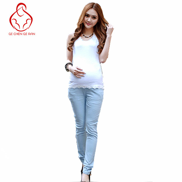 Candy colors of autumn and winter fashion pregnant women pants pregnant women pregnant belly pants trousers Slim pants feet care