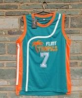 Cheap LIANZEXIN New Flint Tropics Movie 7 COFFEE Black Jersey 2016 Mens Basketball Jersey Green Wholesale