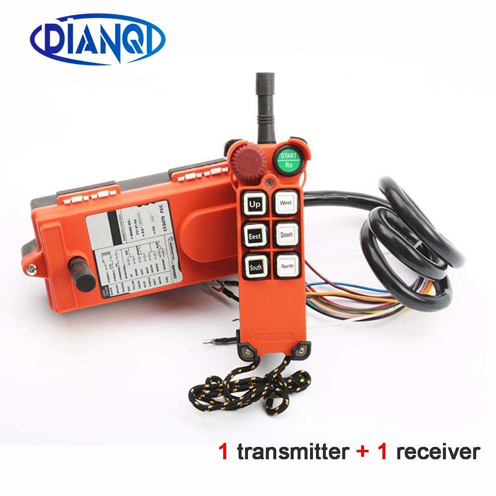 220V Industrial remote controller switchesHoist Crane Control Lift Crane 1 transmitter+1 receiver F21 E1  6 channel 110V 24V 12V-in Switches from Lights & Lighting    1