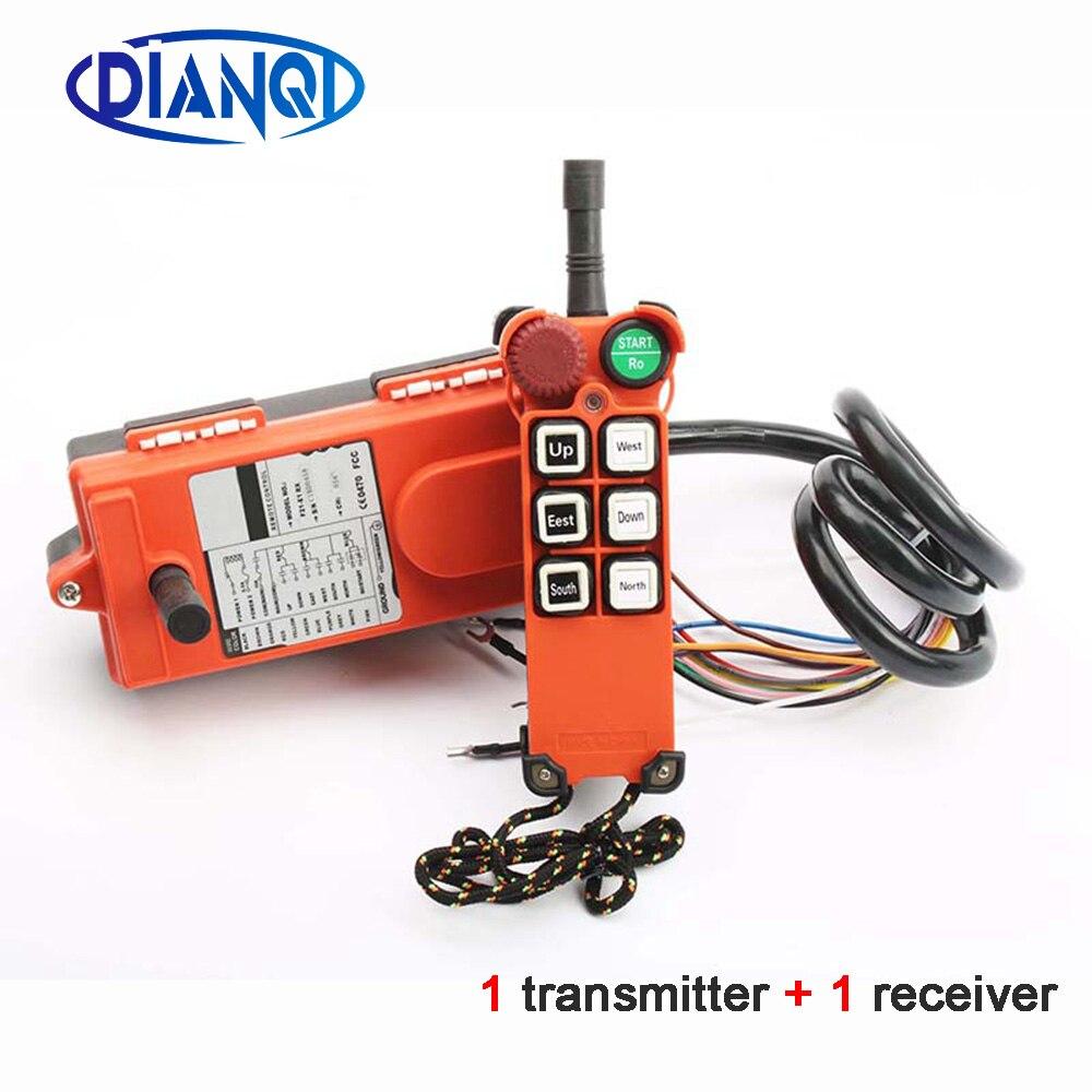 220V télécommande industrielle switchespalan grue de contrôle ascenseur 1 émetteur + 1 récepteur F21-E1 6 canaux 110V 24V 12V