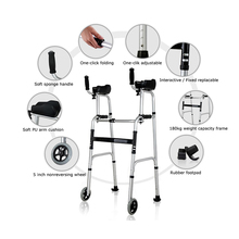 Light weight medical care adjustable elbow supports walking aids outdoor forearm walker rollator