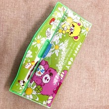 Multifunctional stationery box double faced automatic plastic pencil box pencilcase