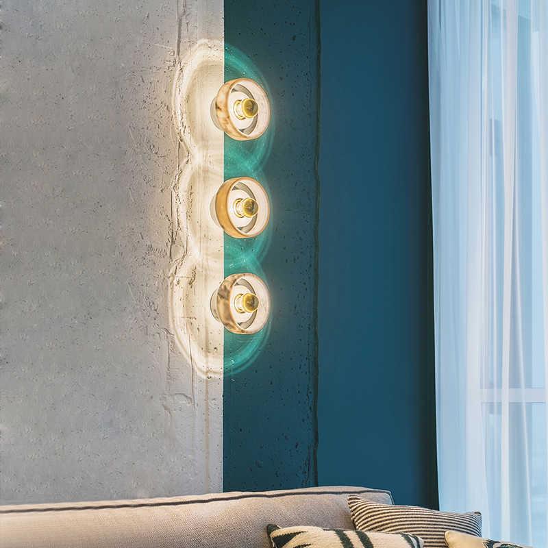 Nordic мрамор бра туалетное зеркало фары творческий современный контракт прикроватная тумбочка для спальни настенные лампы в коридор лампы