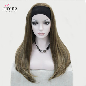 Image 3 - StrongBeauty Headband wigs Women Synthetic Capless Long Straight Hair Blonde/Black Natural Wigs