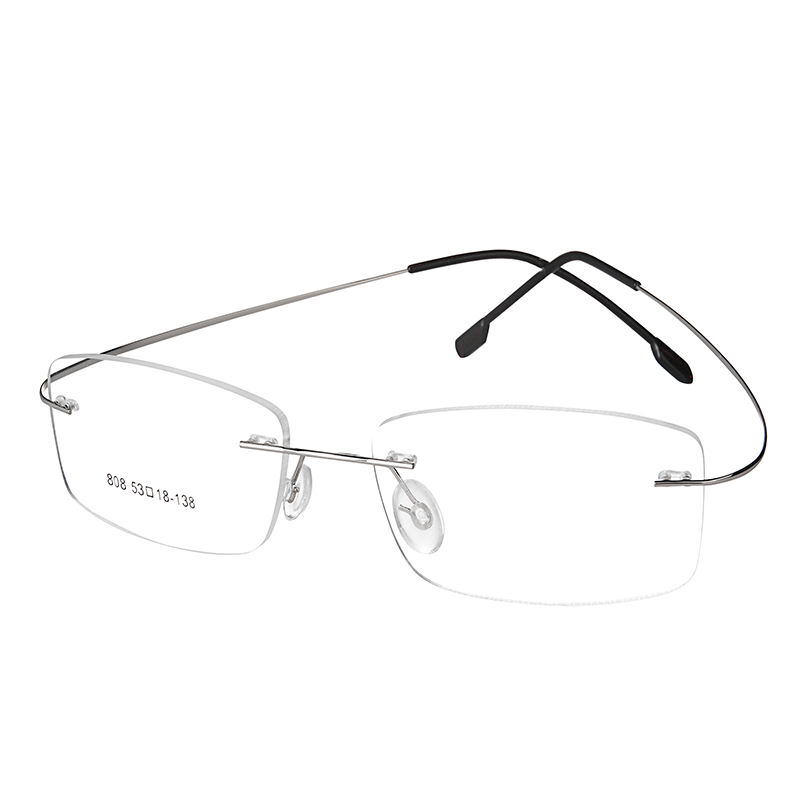 8c4593fcdf Fashion Super Flex and Light Memory Titanium Rimless Eyeglasses Frames For Myopia  Lenses Reading Glasses-in Eyewear Frames from Apparel Accessories on ...