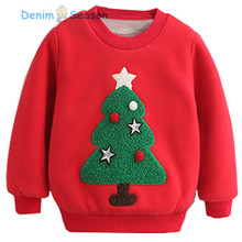 DenimSeason Baby Girls Sweatshirt font b Kids b font Printing Patch Cashmere Warm Winter Clothes Girls