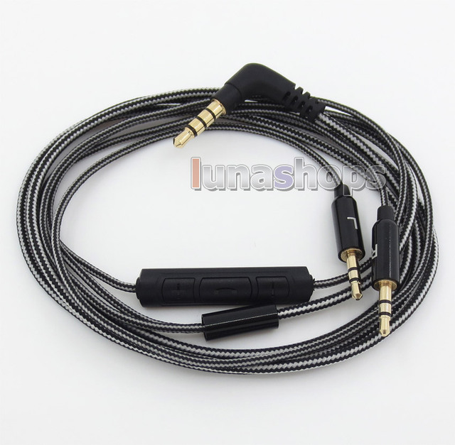Black And White + Remote Cable For Sol Republic Master Tracks HD V8 ...