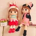 2017 nuevo bebé de la felpa toys las niñas cola de caballo de peluche muñecos de peluche para niños regalos de cumpleaños de la muñeca encantadora de los niños toys ww60