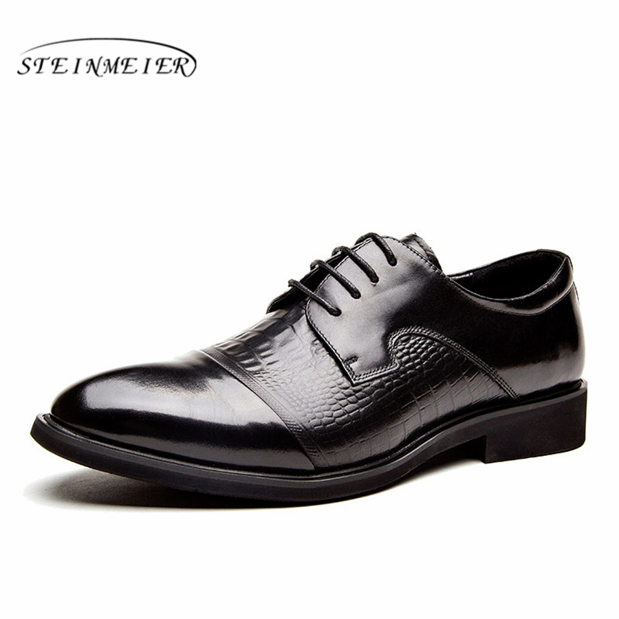 Mens formal shoes leather men dress oxford shoes for men dressing wedding business office shoes lace