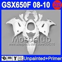 Unpainted+Primer Fairings For SUZUKI GSX650F 2008-2010 GSX 650F GSXF650 GSXF 650 08 09 10 2008 2009 2010 Body Fairing