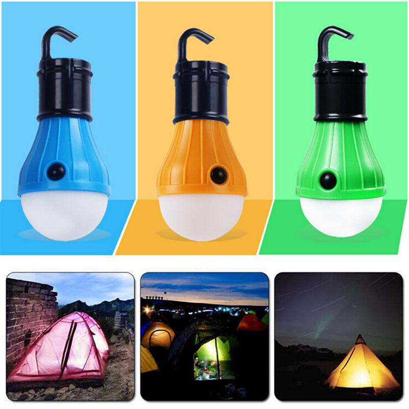 LED Lanter Soft Light Outdoor Hanging 3 Light Outdoor Camping Tent Lantern Bulb Fishing Light Bulb Lamp White Light Emergency