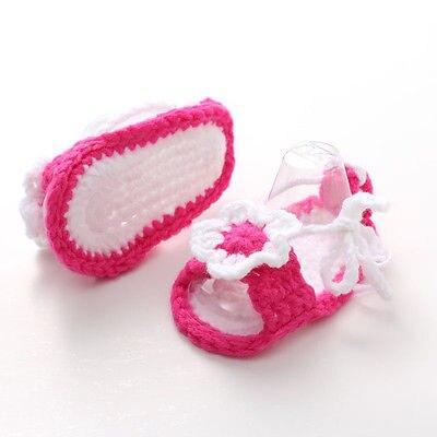 Socks Crib-Shoes Prewalker Crochet Newborn Infant Baby Girls 0-12-Months Knit