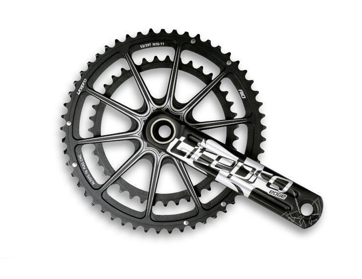 Litepro EDGE crank AIO Hollow Double Chainring road bike Crankset Crank 53T/59T 50/34T 52/36T GXP 170mm 172.5