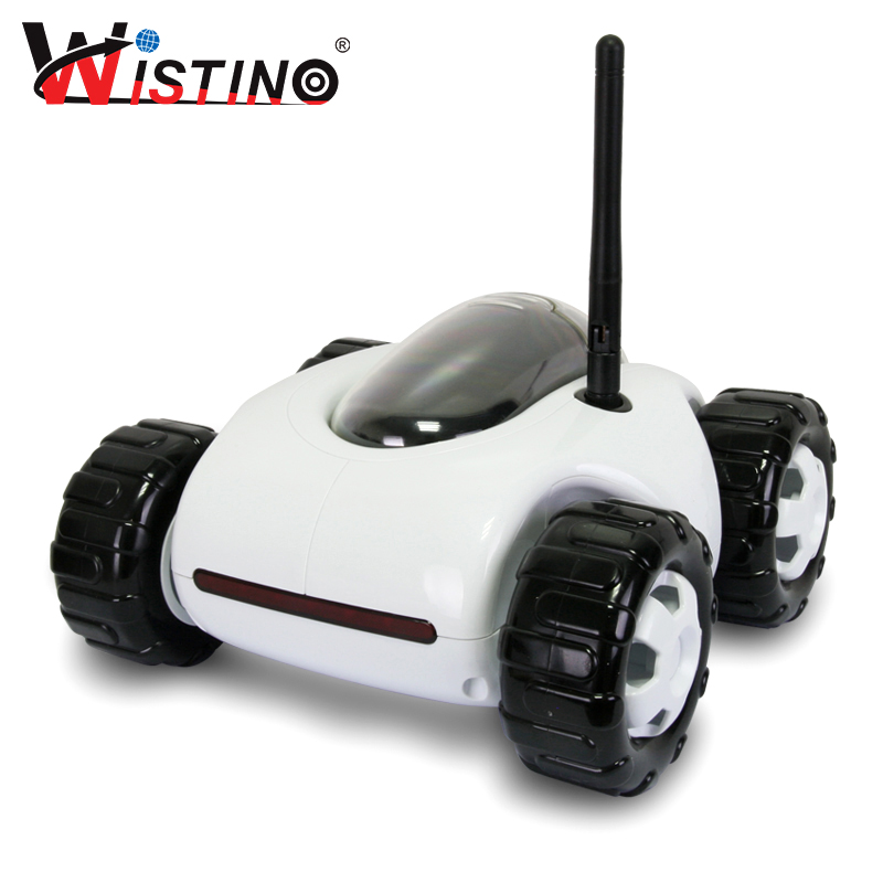 Wistino RC Monitor Car Movable Camera Wifi Remote Control Mini Wireless Charging Smart Home Cam Infrared Night Vision HD 720P  wireless charger wifi remote control car with fpv camera infrared night vision camera video toy car tanks real time video call
