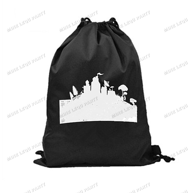 50 100pcs Fortnight Gift Bags Cartoon Game Drawstring Storage Bag Sports Lolly Environmental Bag Party Supplies