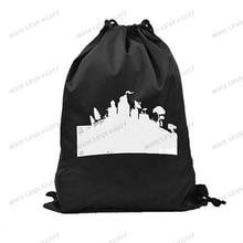 50-100 шт Fortnight подарочные сумки мультфильм игра Drawstring сумка для хранения спортивная Lolly Экологическая сумка партия поставок пользу детские подарки