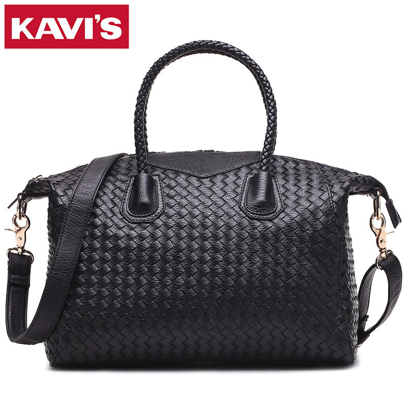 2017 Famous Brands Handmade Women Woven Shoulder Bags High Quality Designer Weave Black Leather Handbags Knitting Trapeze Totes
