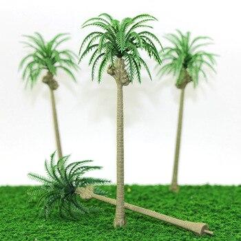 1:50-200 échelle bricolage modèle faisant des matériaux de Table de sable palmier noix de coco paysage bord de mer jouets vert tronc d