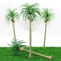1:50-200 échelle bricolage modèle faisant sable Table matériaux palmier noix de coco paysage bord de mer jouets vert arbre tronc Miniature paysage