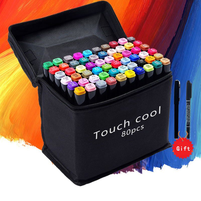 24 36 48 60 80 Colors Pen Marker Set Dual Head Painting Marker Brush Pen markers for drawing Design Sketch Art Supplies sta 80colors double head artist soluble colored sketch marker brush pen set for drawing design paints art marker supplies