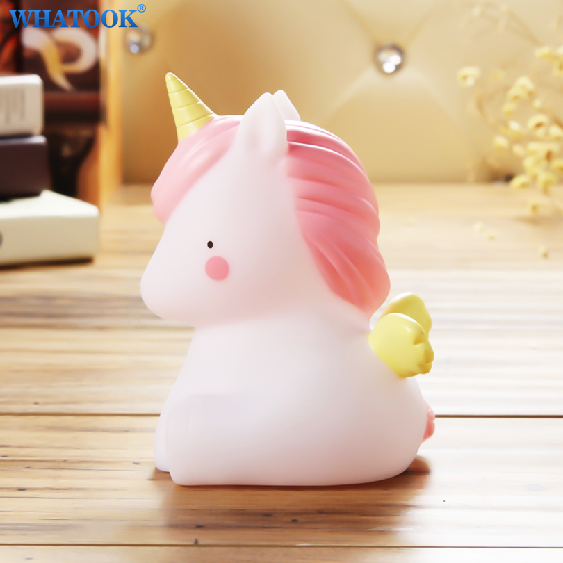 Unicorn Led Night Lights Unicornion Party lampara Lamp Brontosaurus 3D Marquee Sign Baby Toys Gifts for Home Bedroom Decor Light