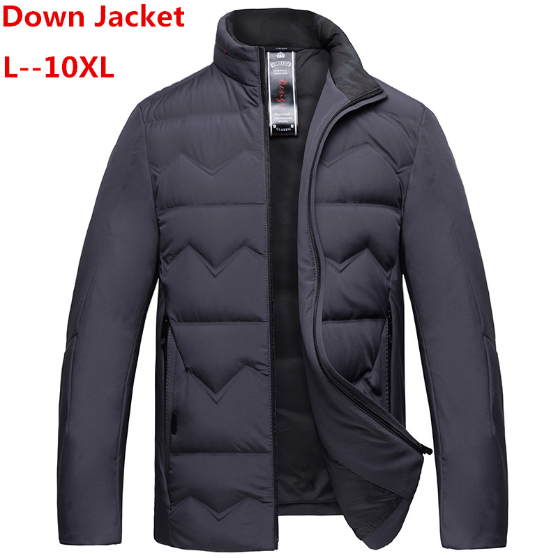 Plus 10XL 8XL 6XL 5XL ultra mince Packable doudoune hommes marque-vêtements ultralégdécontracté duvet de canard veste mâle réversible porter